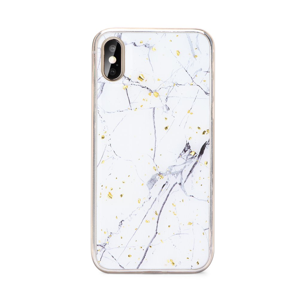 Pouzdro Forcell Marble iPhone 11 - Bílý mramor