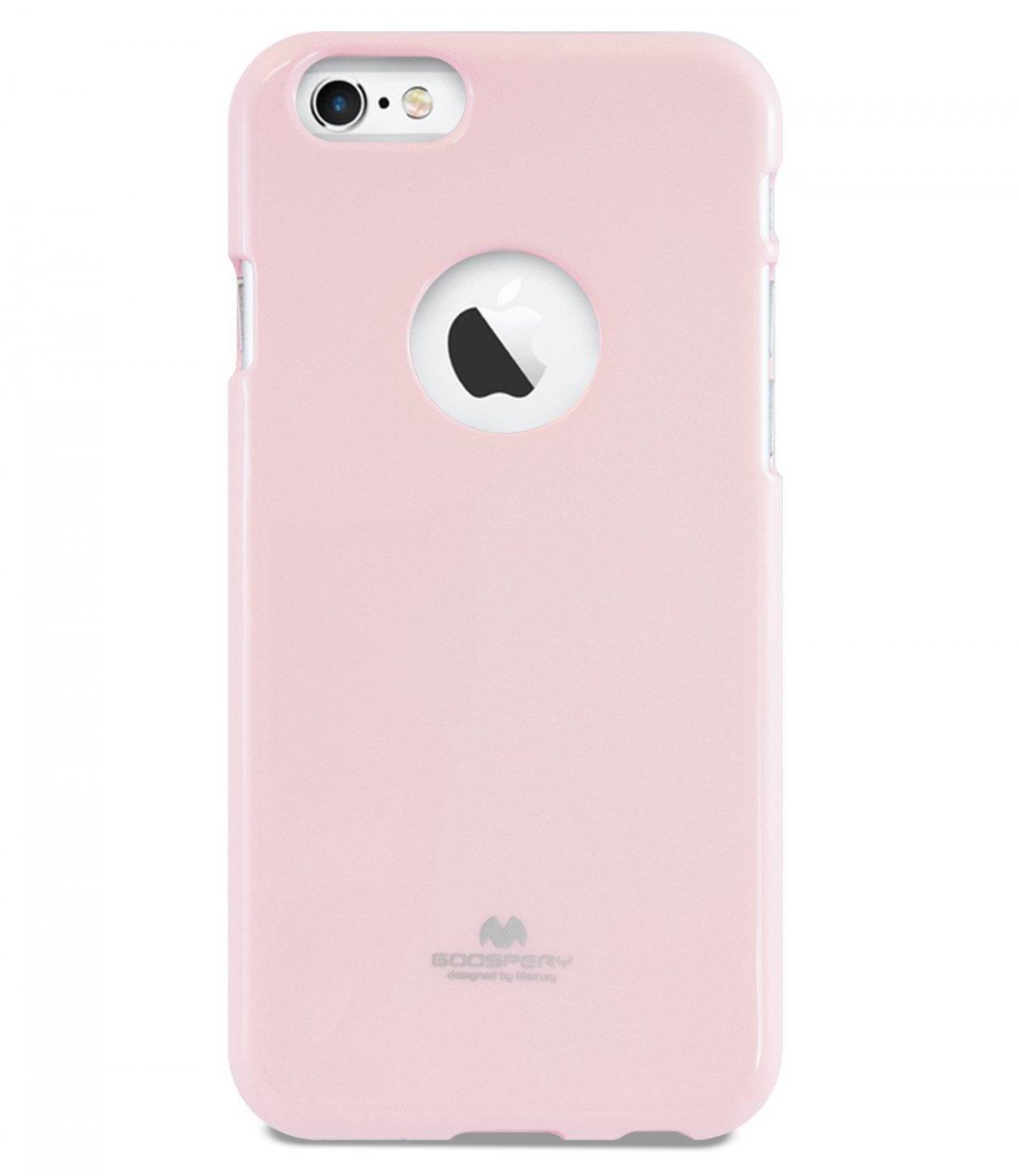 Silikonový obal / kryt Jelly Case Goospery Mercury Apple iPhone 6s Plus / 6 Plus - Světle růžový