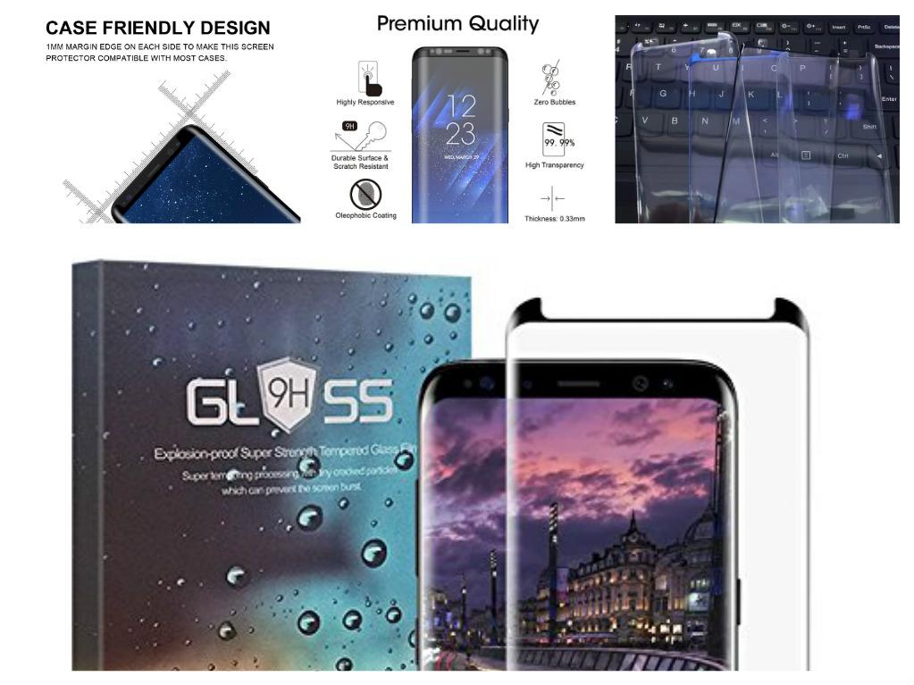 3D Ochranné sklo CASE FRIENDLY na celý displej pro Samsung Galaxy S8 Plus (S8+)