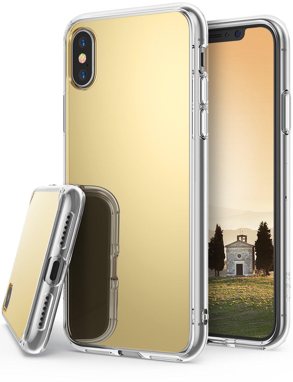 Pouzdro Telekryty Zrcadlové mirror iPhone X zlaté