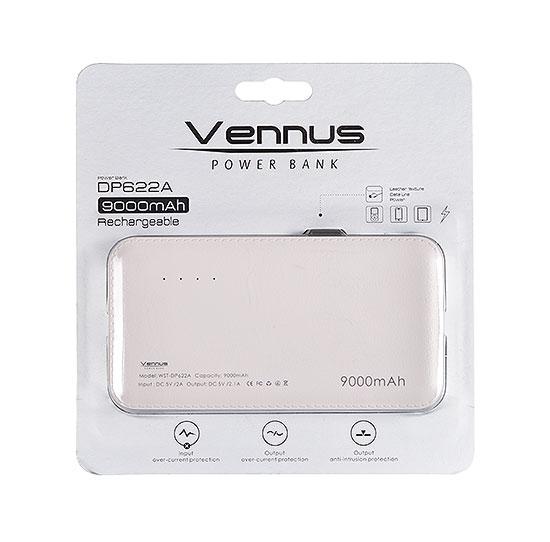 Power Banka / Externí baterie Vennus DP622A 9000mAh + Apple iPhone Lightning Adaptér - Bílá