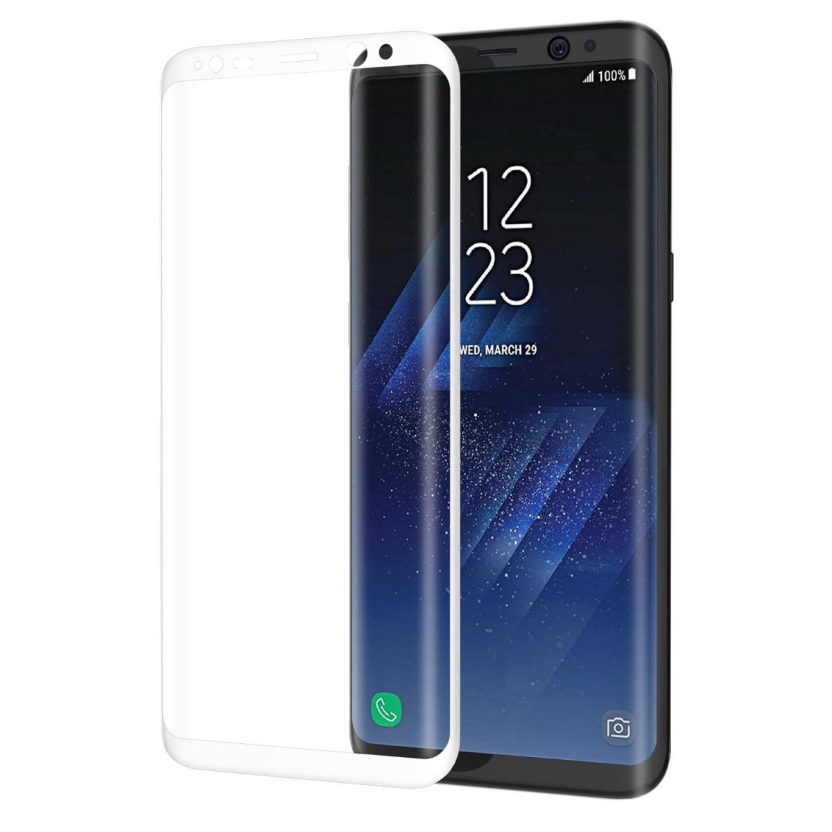 3D Tvrzené sklo 9H na celý displej pro Galaxy S8 Plus (S8+) - Bílé (white)