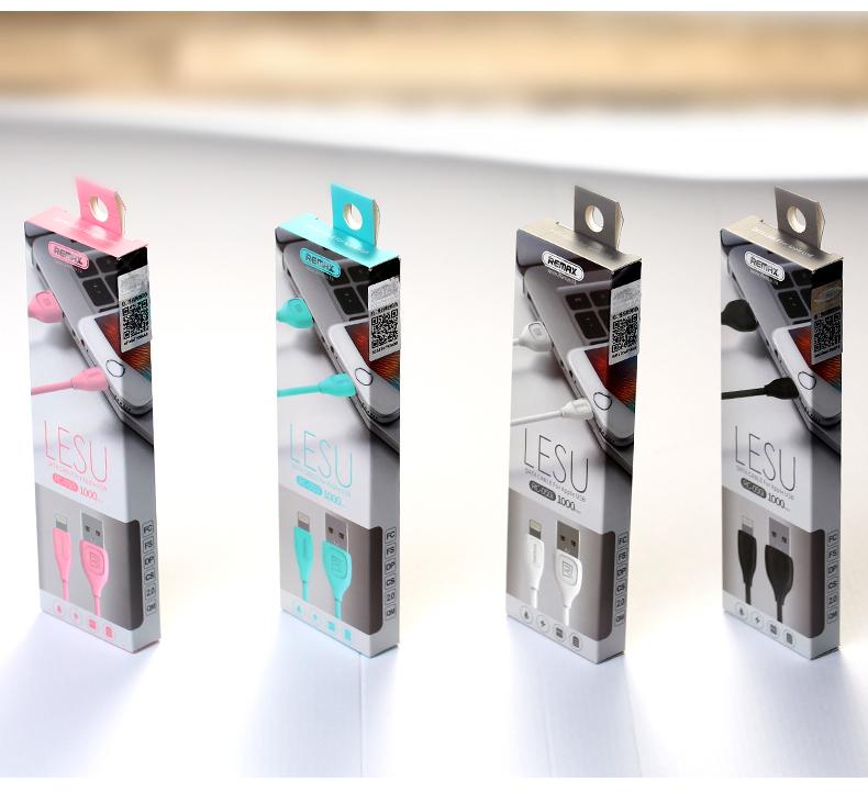 USB kabel REMAX LESU s Lightning pro iPhone / iPad / iPod