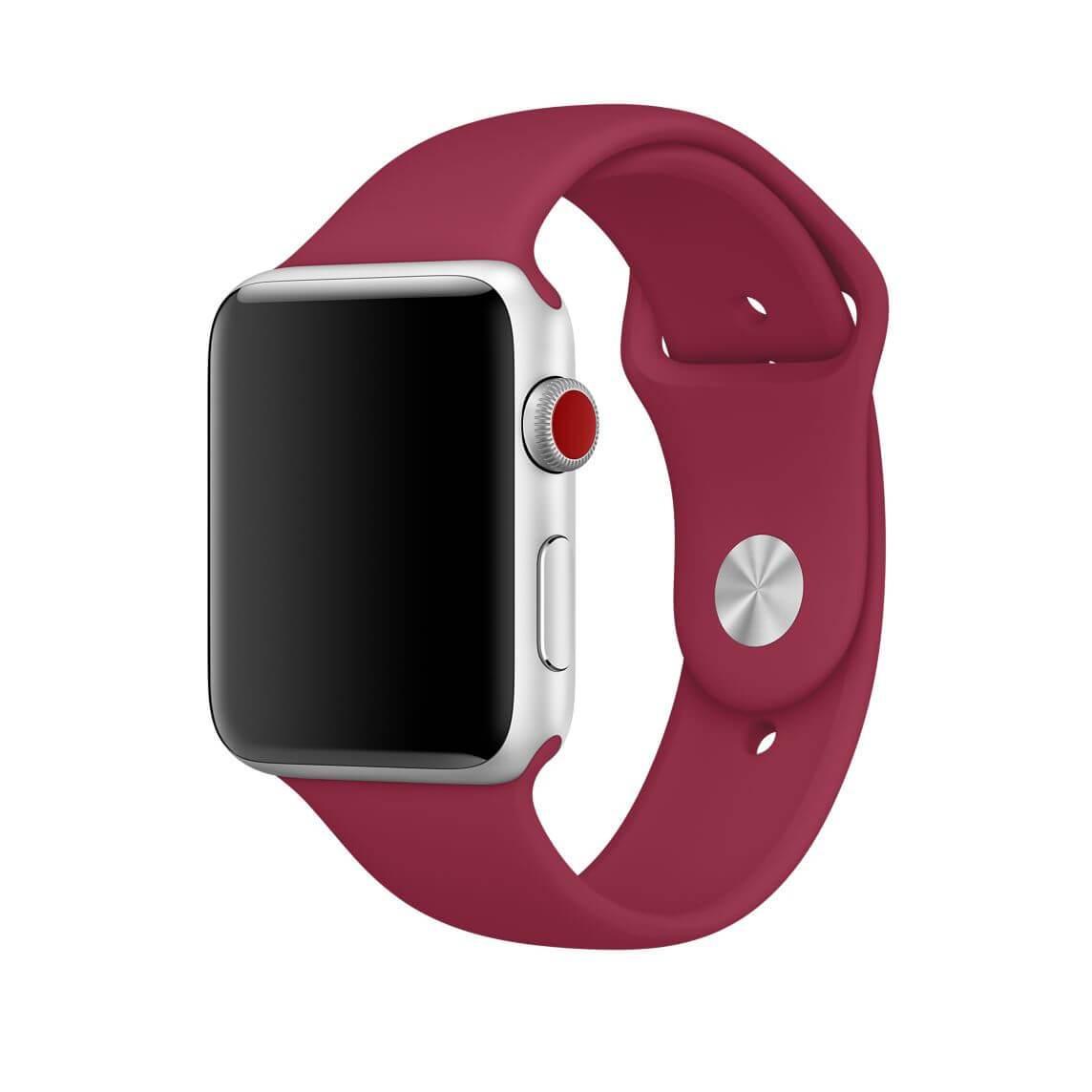 Řemínek SmoothBand pro Apple Watch Series 3/2/1 42mm - Vínový