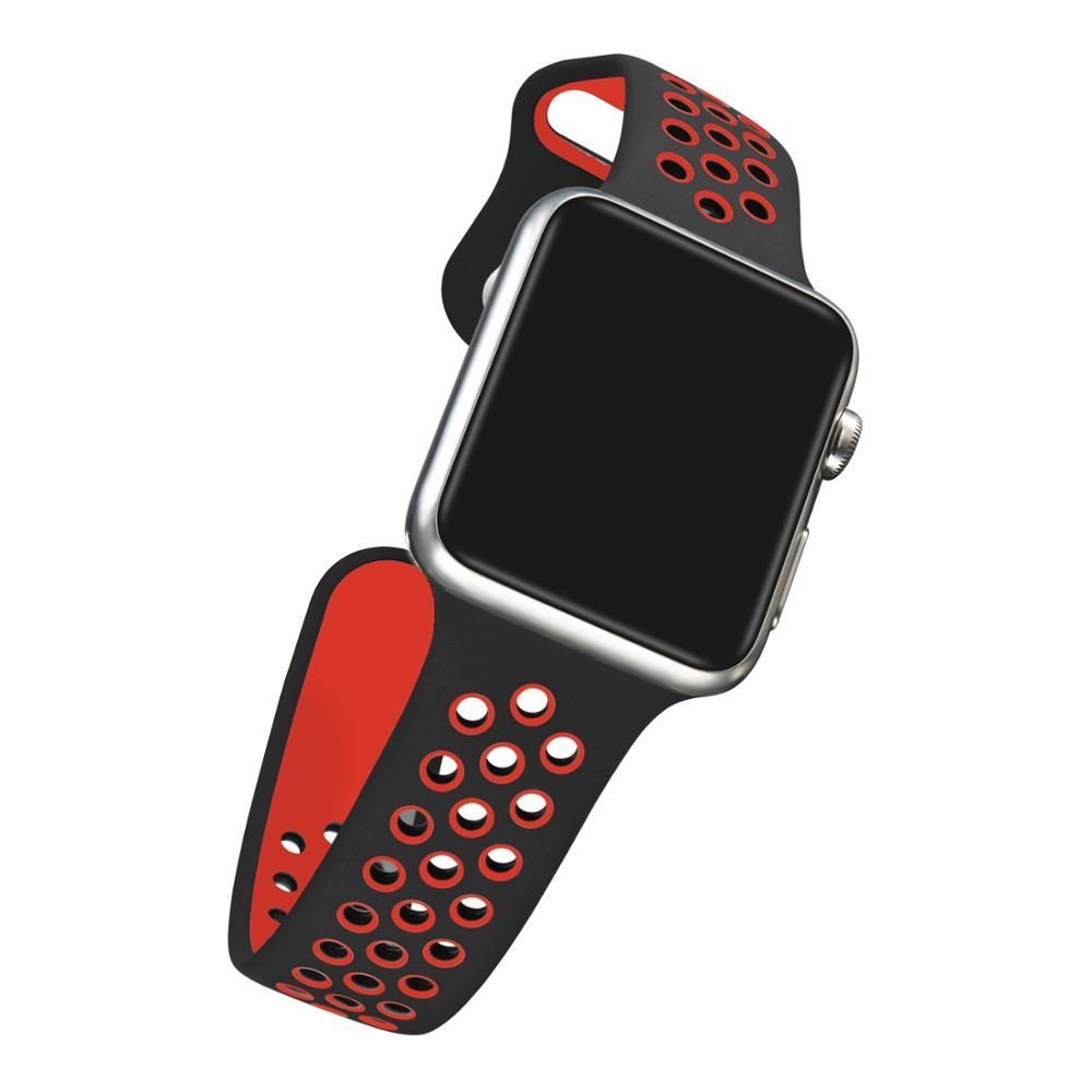 Řemínek SPORT pro Apple Watch Series 3/2/1 38mm - Černý/Červený