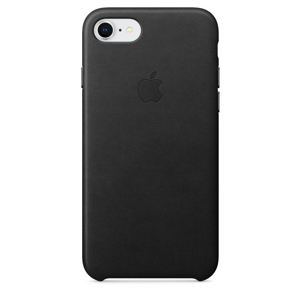 Kožený kryt Apple Leather Case na iPhone 8 / 7 - Černý