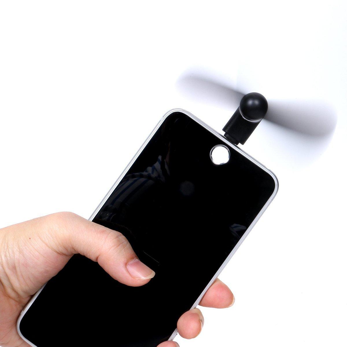 Větráček Summer FAN pro Apple iPhone / iPad (6 barev na výběr) - Černý