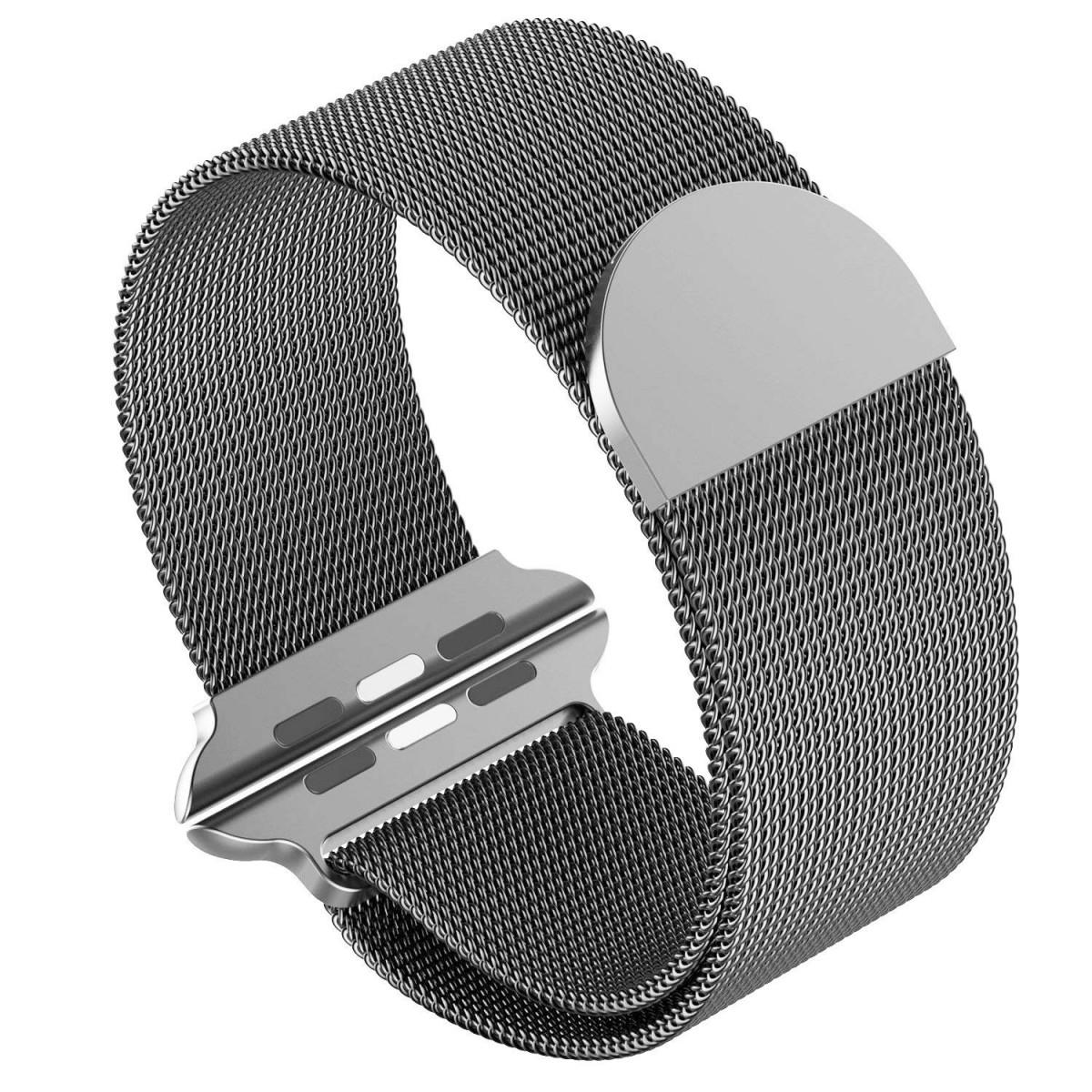 Řemínek MILANESE LOOP pro Apple Watch Series 3/2/1 38mm - Vesmírně šedý