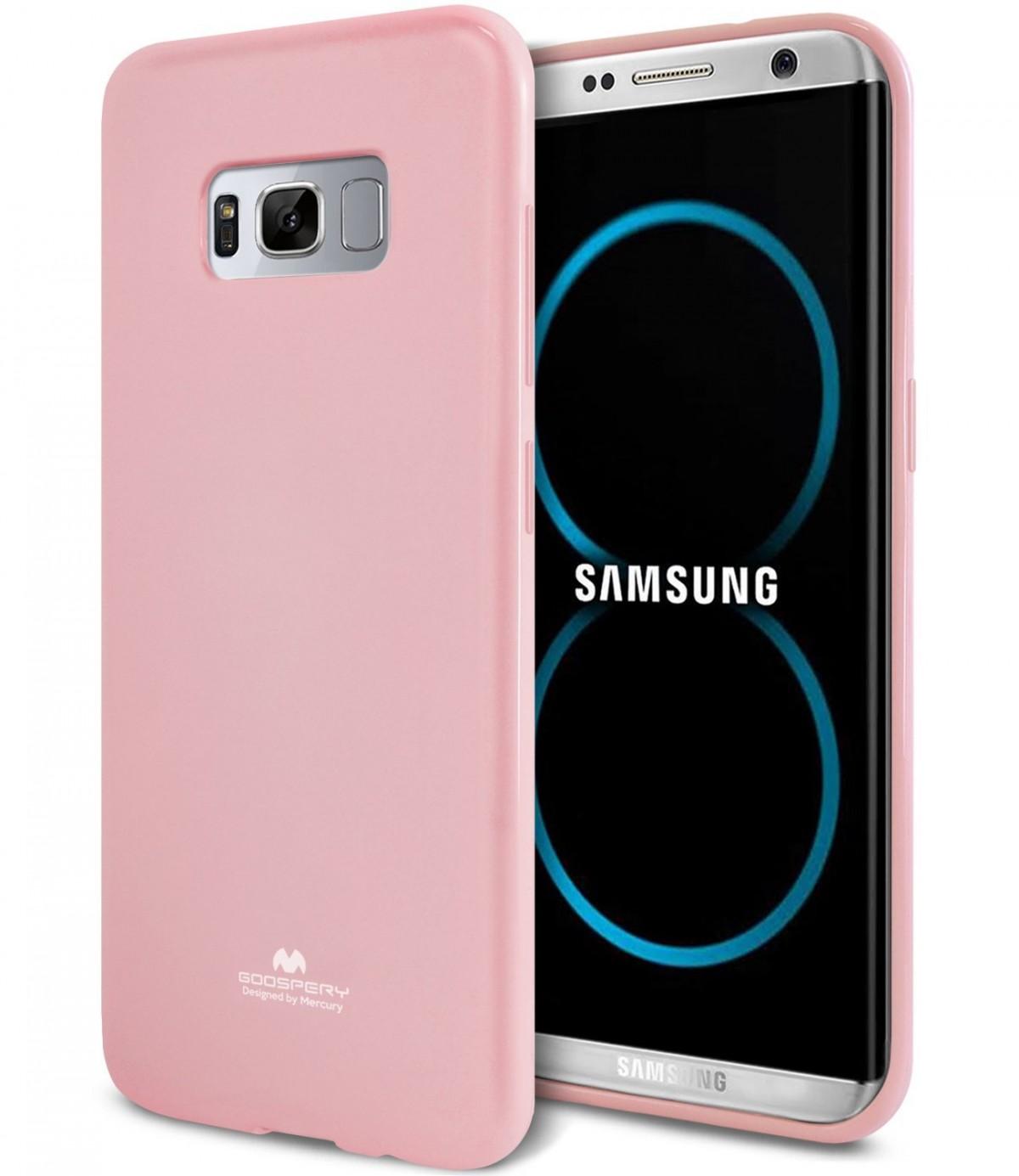 Silikonový barevný obal / kryt Goospery Mercury pro Samsung Galaxy S8 - Jelly Case - Baby Pink