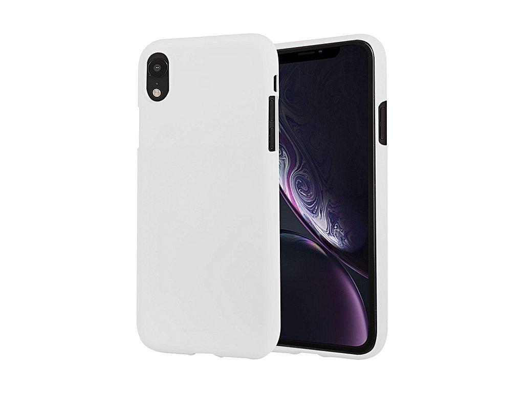 Pouzdro Mercury Soft Feeling iPhone XR - Bílý