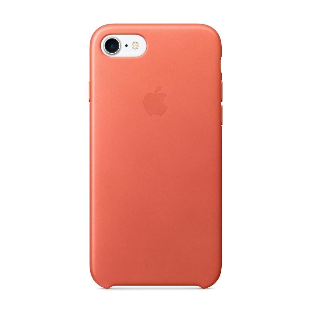 Pouzdro Apple Leather Cover Geranium iPhone 7/8