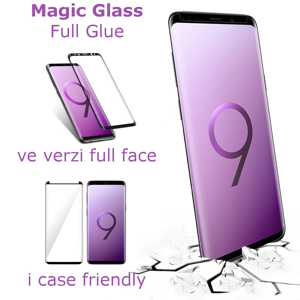 3D Ochranné sklo Magic Glass Full Glue na displej Galaxy S9 Plus