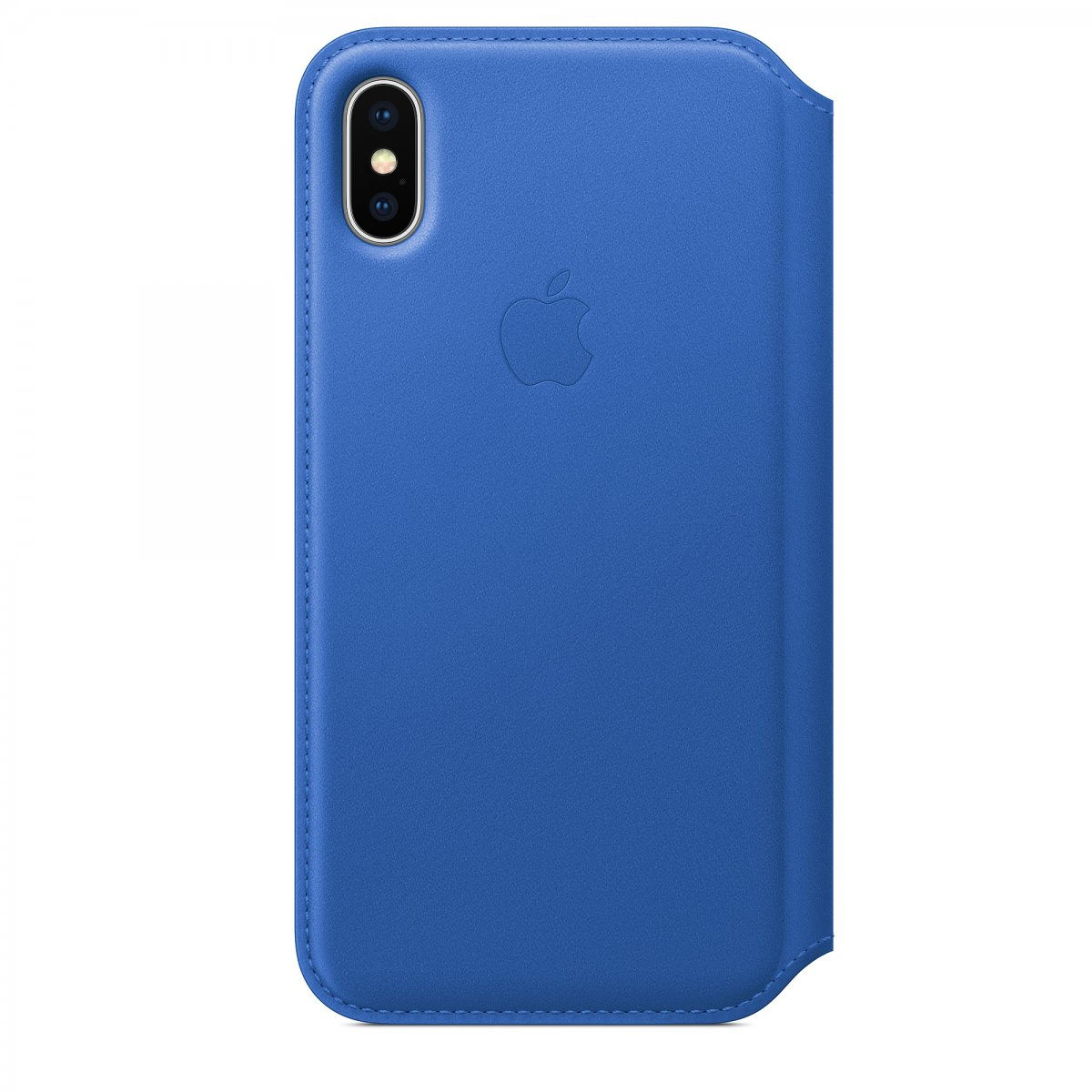 Pouzdro Apple Kožené Folio elektro modré iPhone X