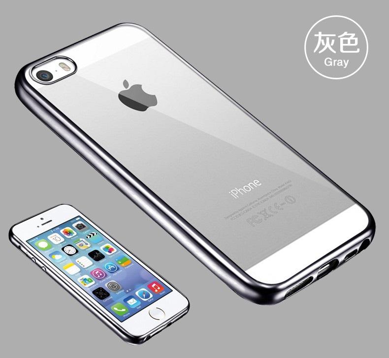 Elegantní obal / kryt RING pro iPhone SE / 5s / 5 - Šedý (gray)