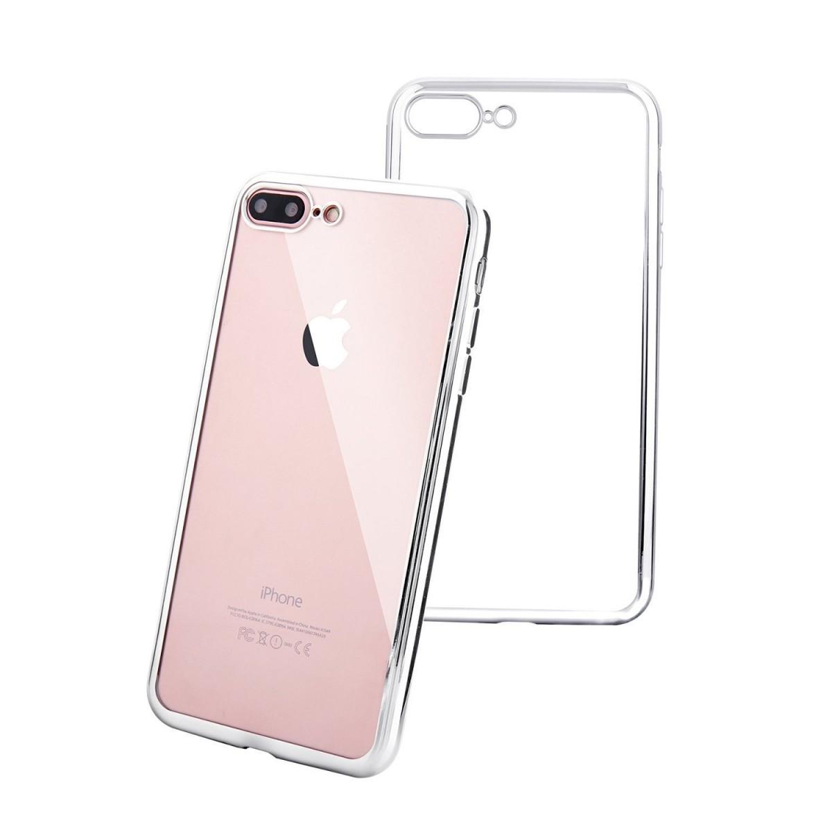 Elegantní obal / kryt RING pro iPhone 7 Plus (silver)