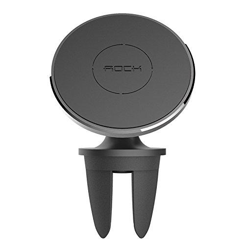 Magnetický držák do auta ROCK na Samsung Galaxy, Xiaomi, Huawei do mřížky ventilace - černý