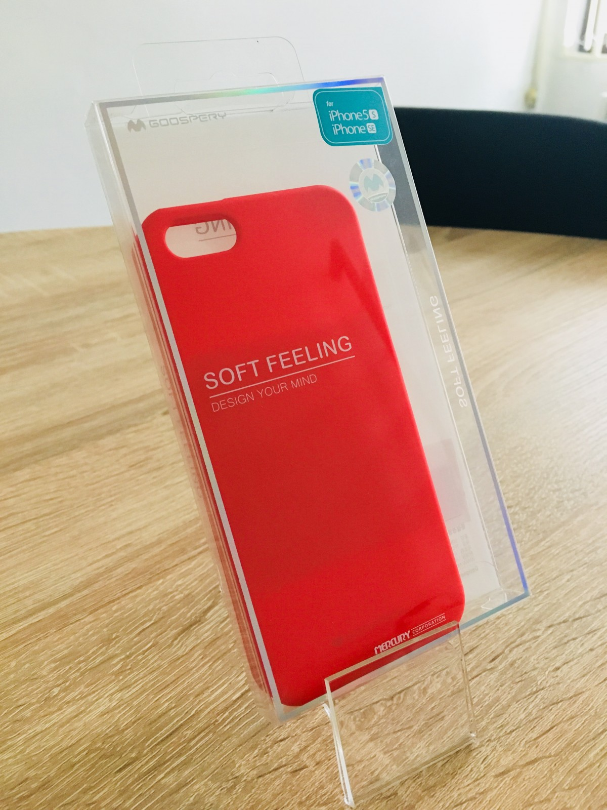 Obal / kryt Mercury Soft Feeling pro Apple iPhone SE/5s/5 - Červený