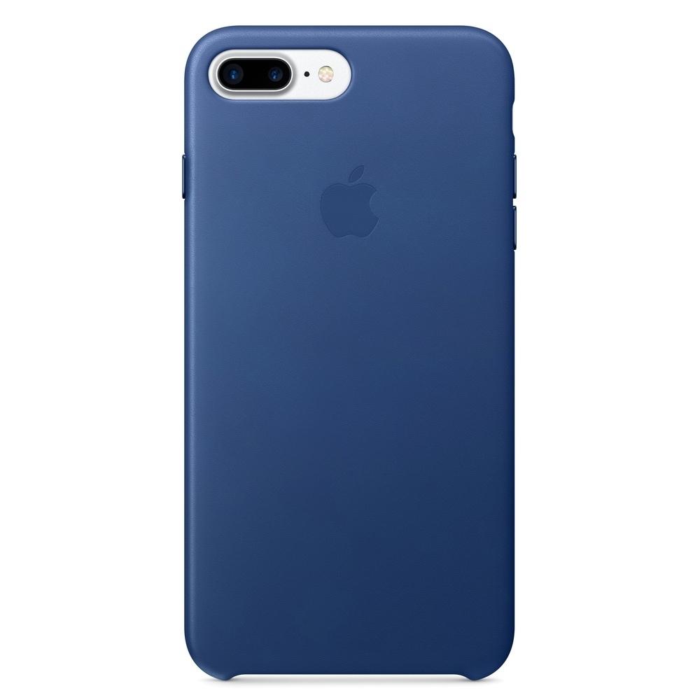 Pouzdro Apple Leather Case iPhone 8 Plus / 7 Plus - safírové