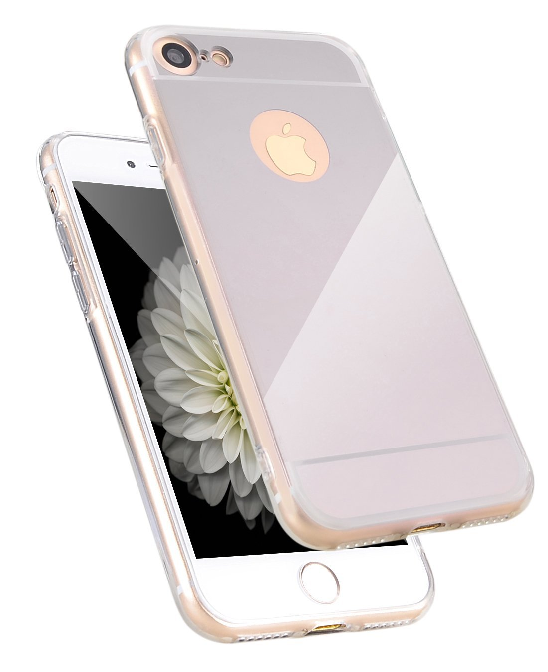 Zrcadlový kryt My Mirror pro iPhone 7 - Stříbrný (silver)