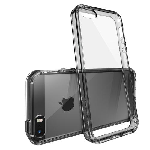 Černý čirý obal / kryt na iPhone SE / 5s / 5