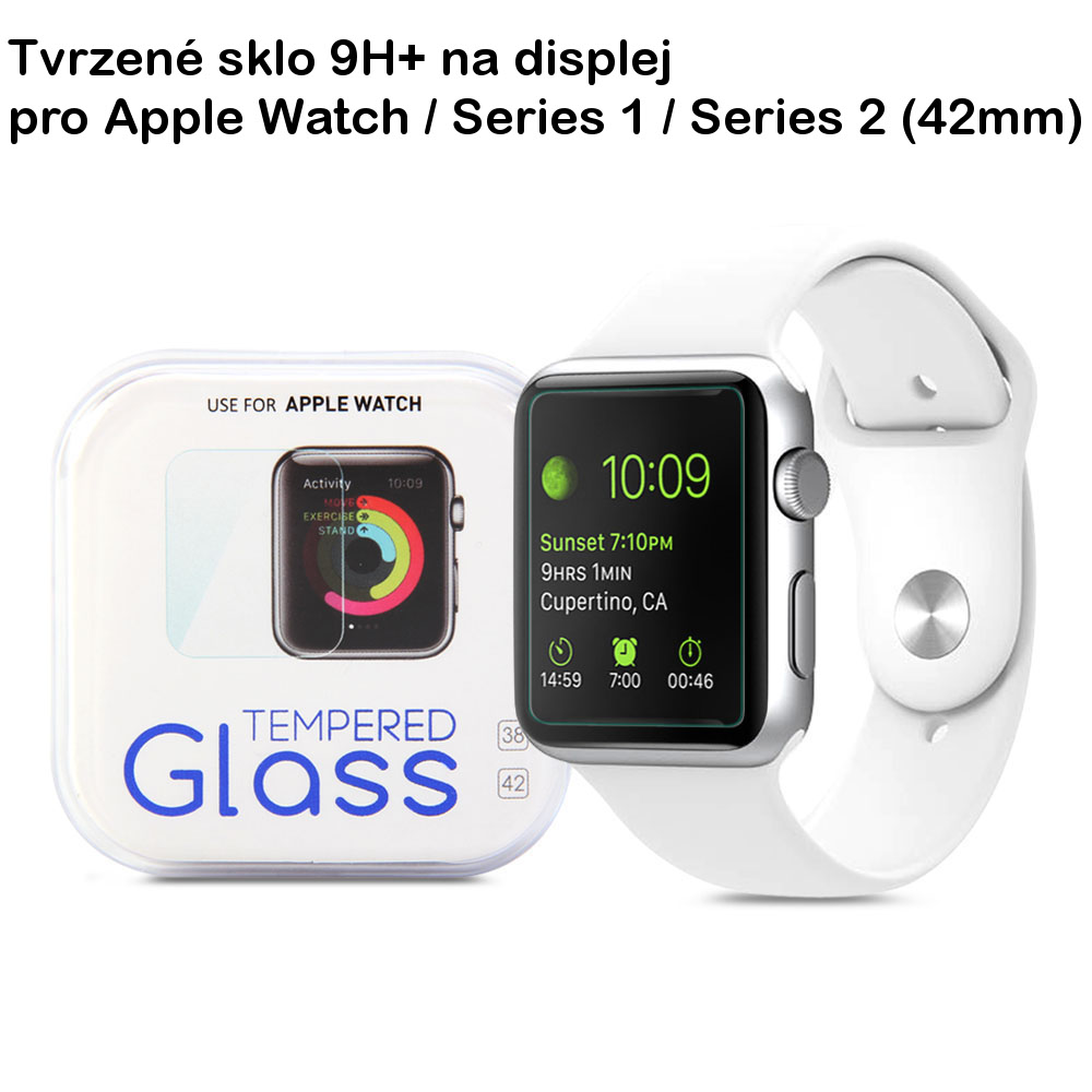 Tvrzené sklo 9H+ na Apple Watch / Series 1, 2 (42mm)