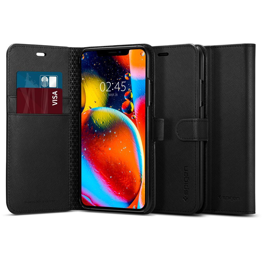 Pouzdro SPIGEN Wallet S Apple iPhone 11 Pro Max černé