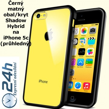 Černý matný kryt Shadow Hybrid na iPhone 5c