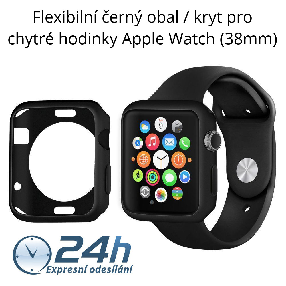 Černý kryt Shadow - Apple Watch / Series 1, 2 (38mm)