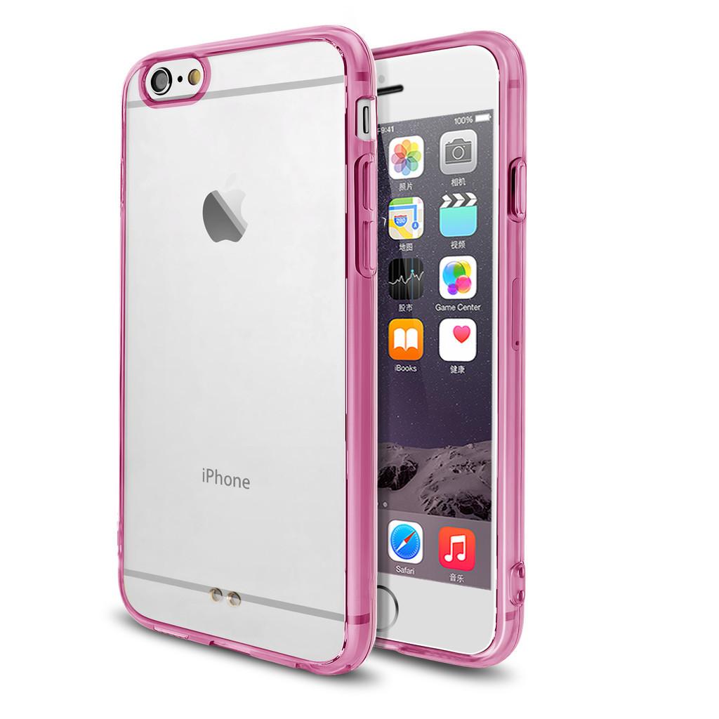 Růžový čirý obal / kryt na iPhone 6s Plus / 6 Plus
