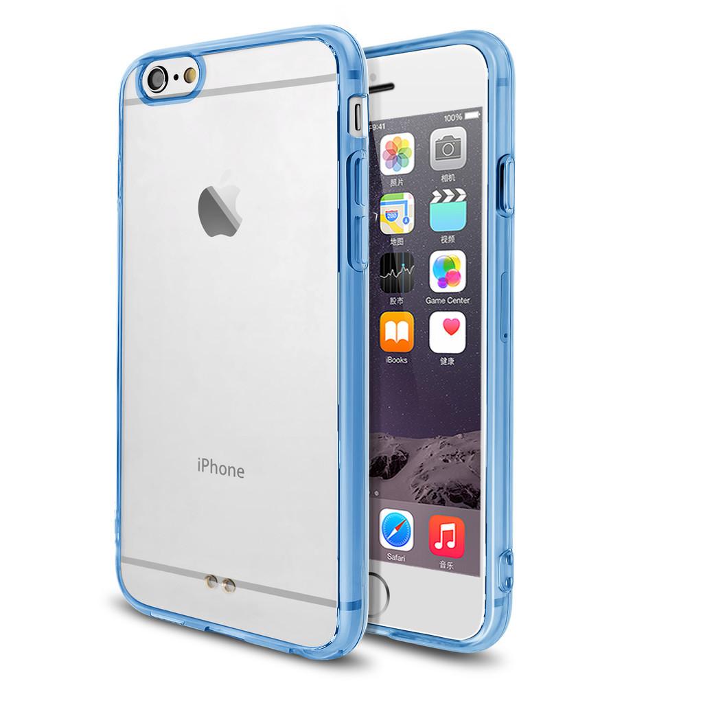 Modrý čirý obal / kryt na iPhone 6s Plus / 6 Plus