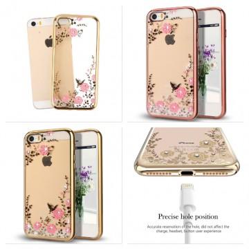 Obal / kryt Crystal Flowers pro iPhone SE / 5s / 5