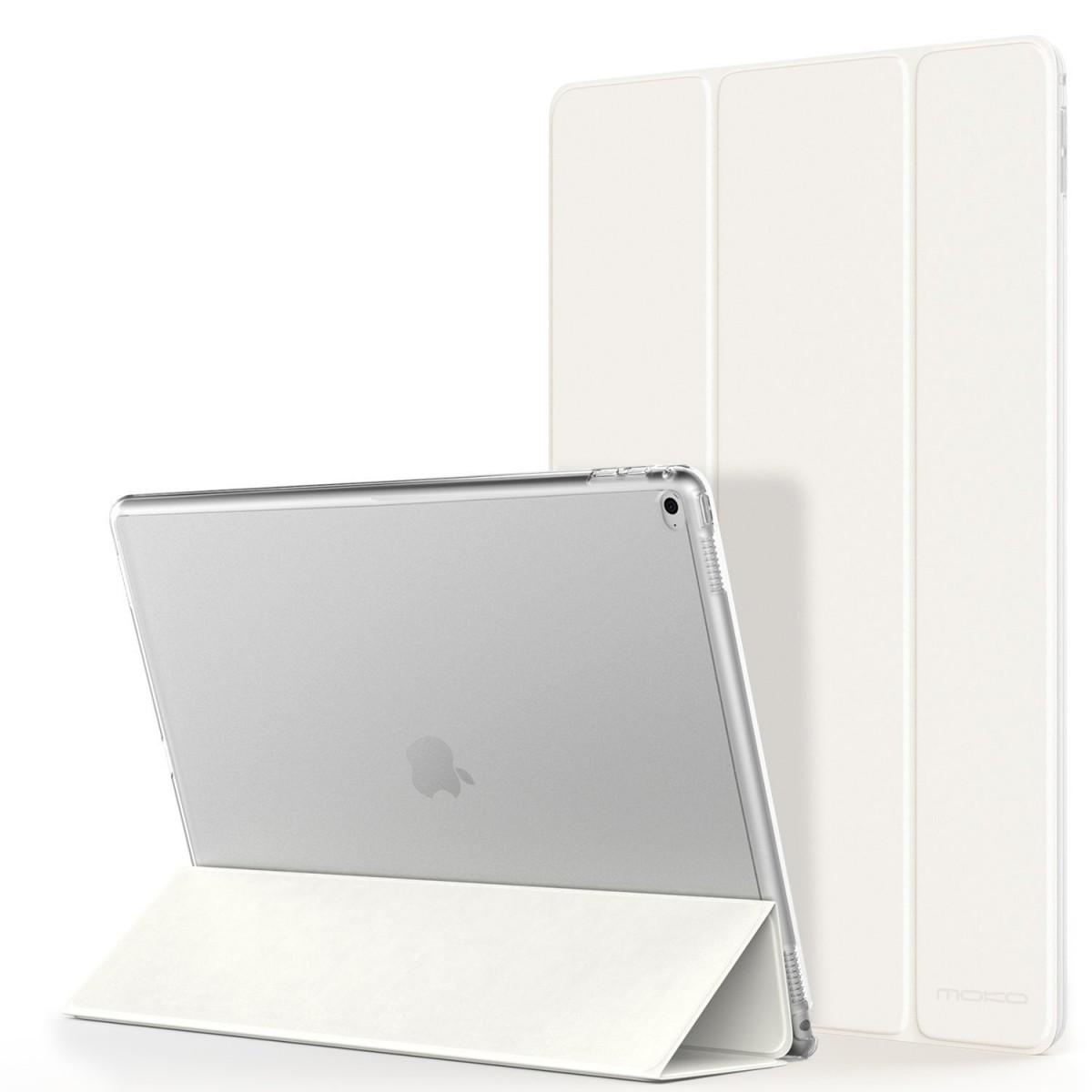 Flipové pouzdro CICZ s průhlednými zády pro iPad Air 2 - Bilé