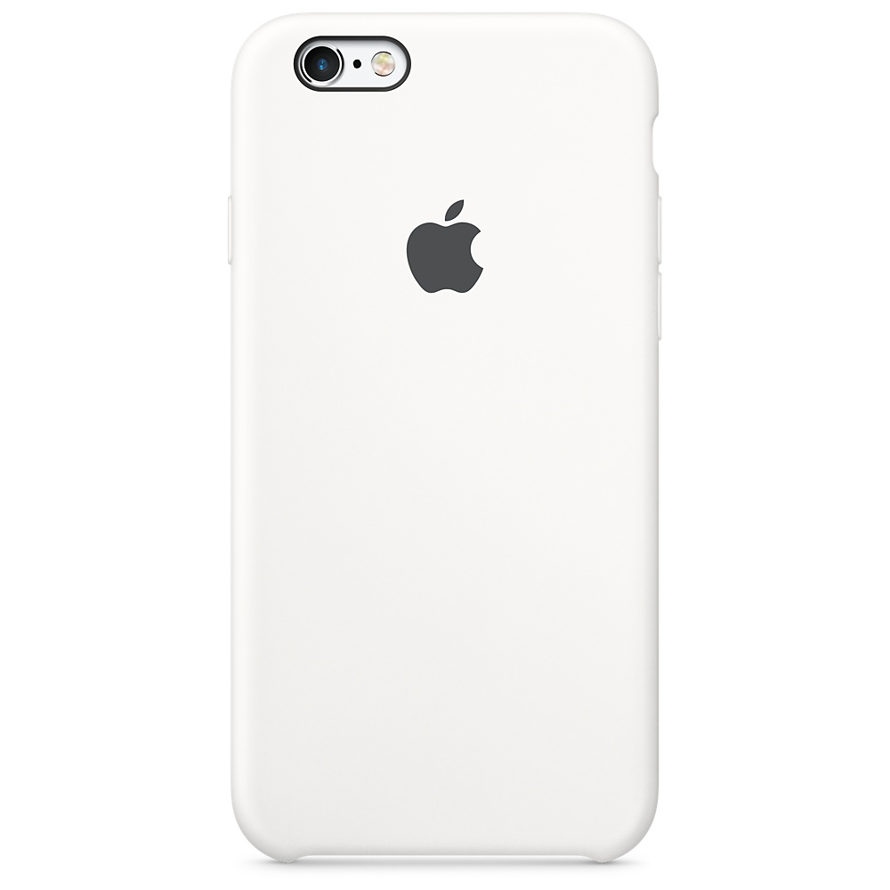 Pouzdro Apple iPhone 6s Plus Silicone Case bílé