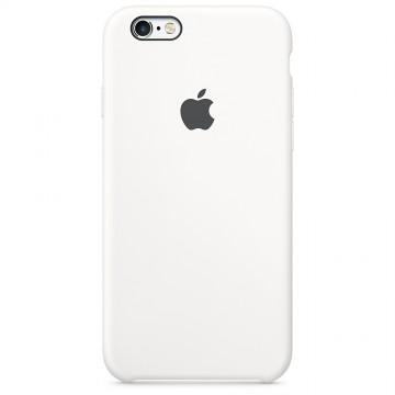 Originální silikonové pouzdro Apple iPhone 6s Plus / 6 Plus - Bílé