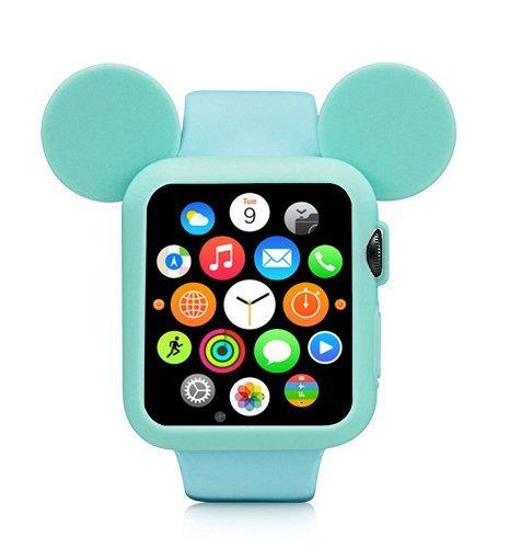 Obal Cartoon Mickey na Apple Watch 42mm Series 1, 2, 3 - Mintový