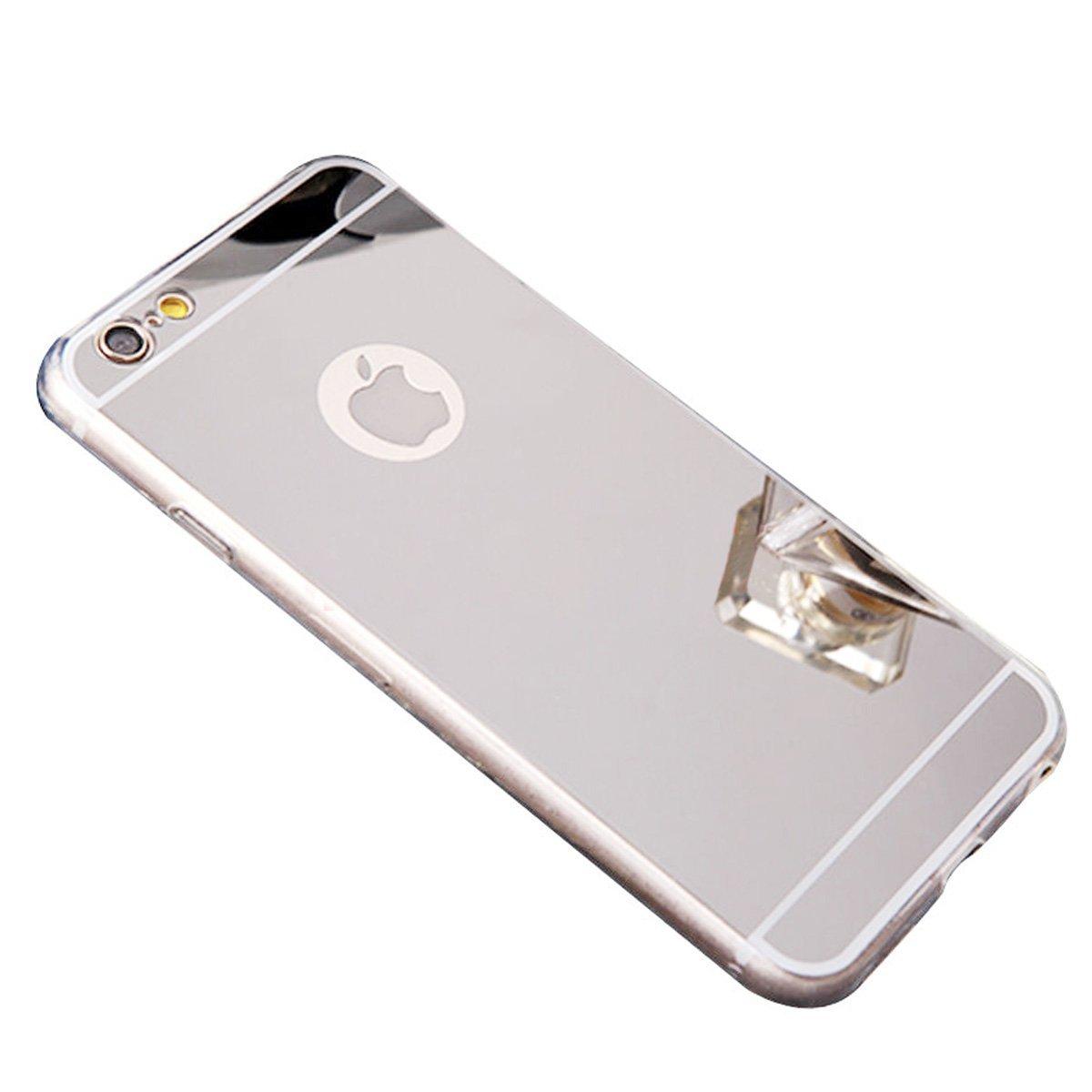 Zrcadlový kryt My Mirror pro iPhone 6s / 6 - Stříbrný (silver)