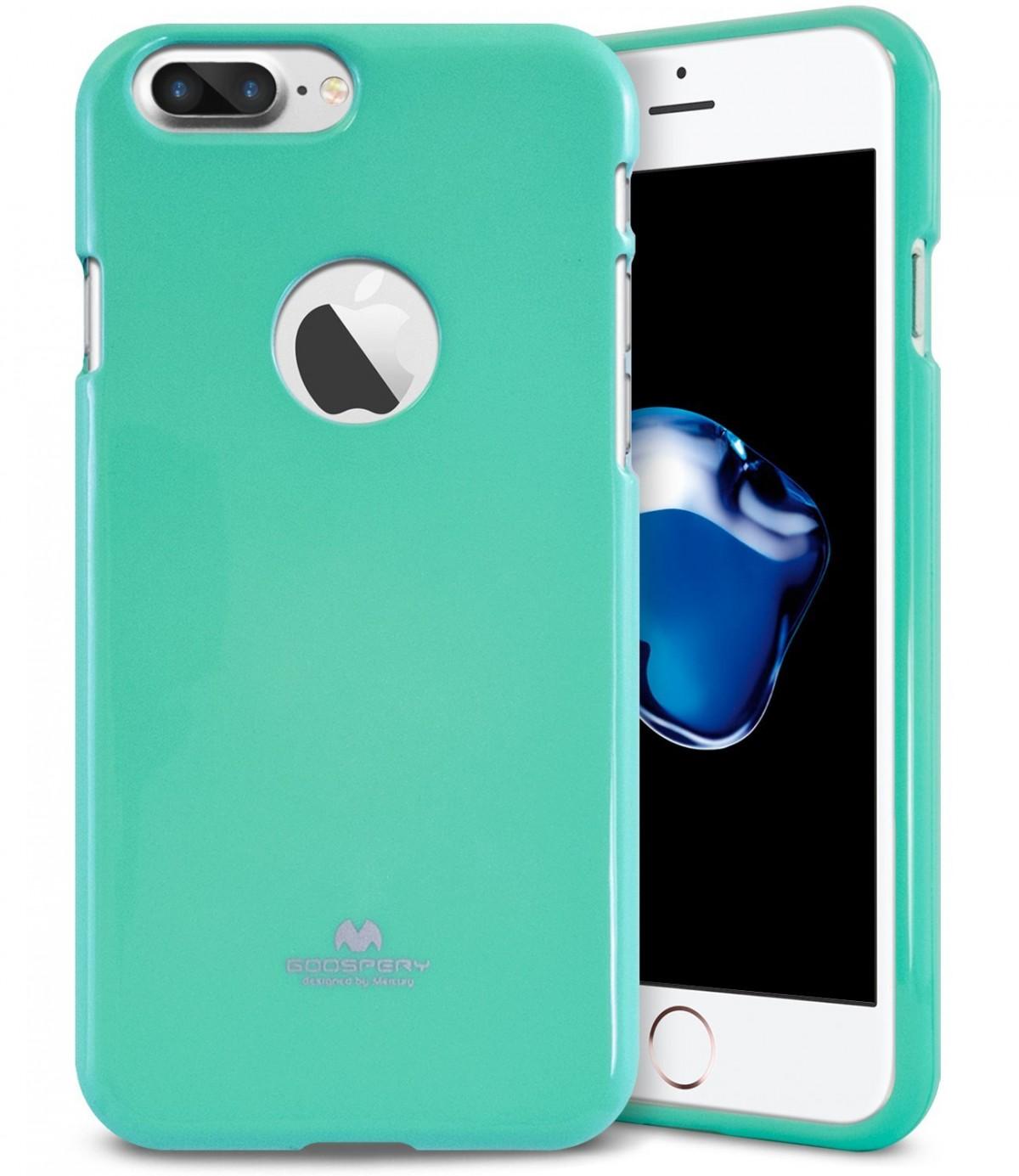 Tenké silikonové obaly / kryty Goospery Mercury pro Apple iPhone 7 Plus - Jelly Case - Světle zelený / Mint