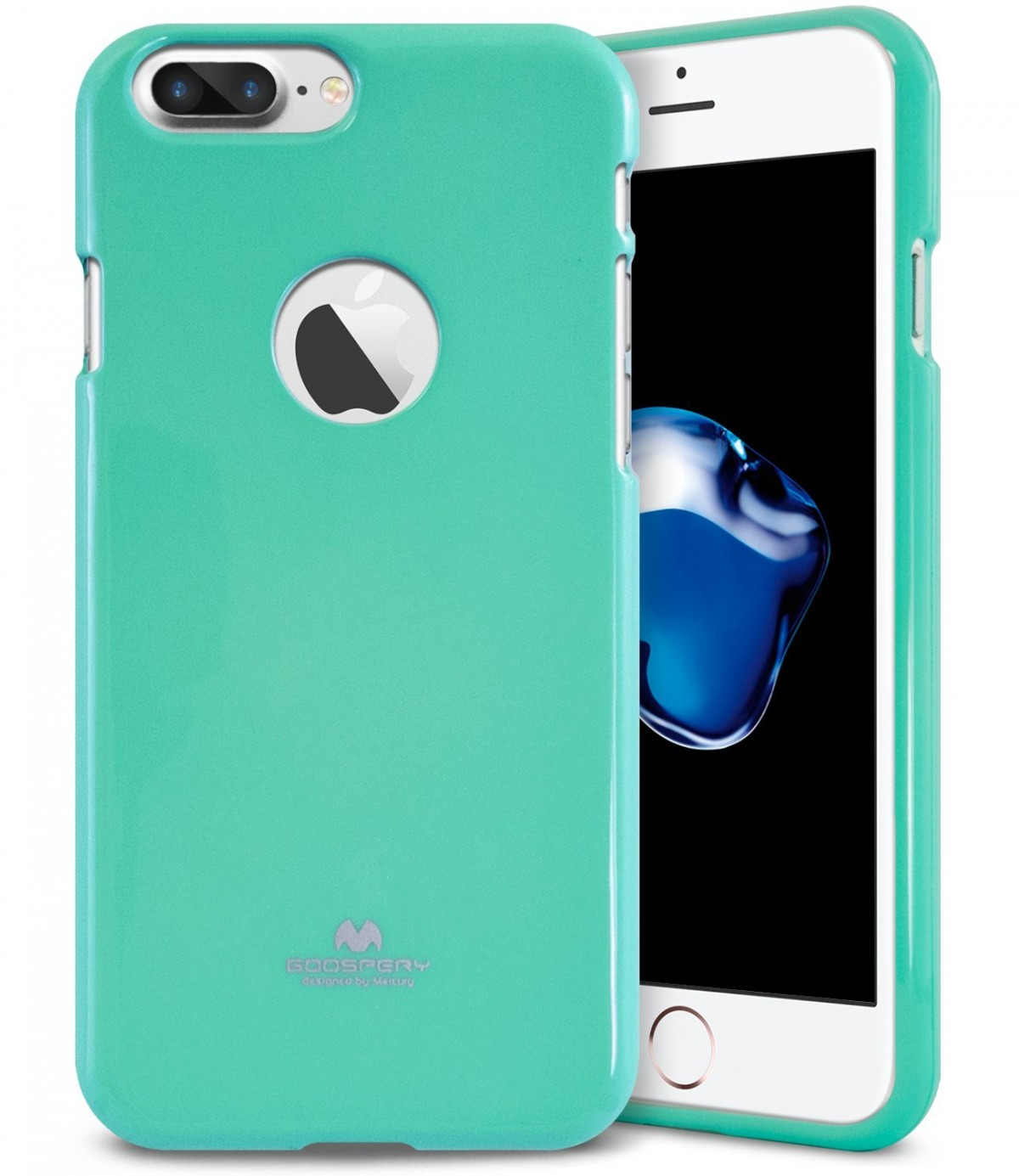 Pouzdro Goospery Mercury Jelly Case Apple iPhone 8 Plus / 7 Plus - Světle zelené / Mint
