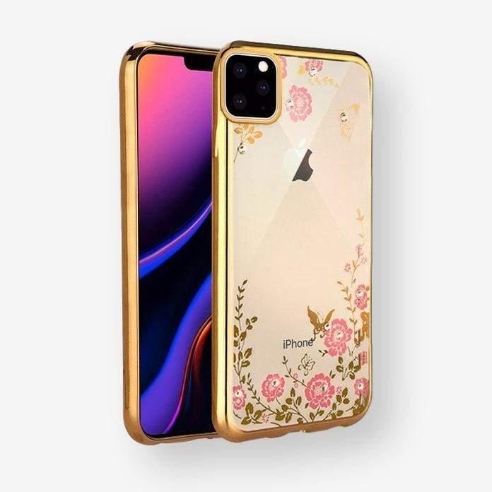 Pouzdro Forcell Diamond Case iPhone 11 Pro Max - Zlatá
