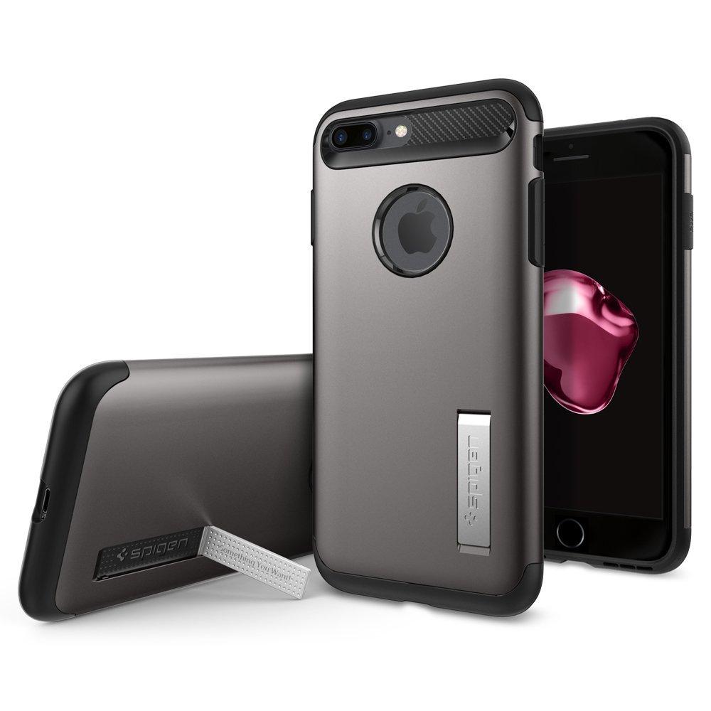 Ochranný kryt SPIGEN Slim Armor pro Apple iPhone 8 Plus / 7 Plus - Gunmetal