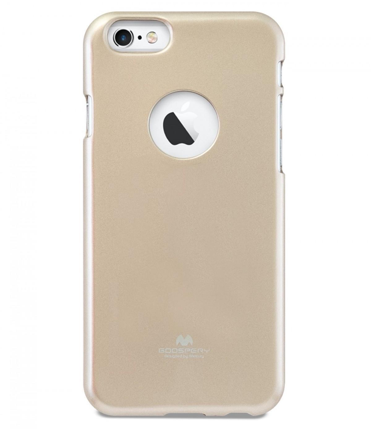 Tenké silikonové obaly / kryty Goospery Mercury pro Apple iPhone 6s/6 - Zlatý / Gold