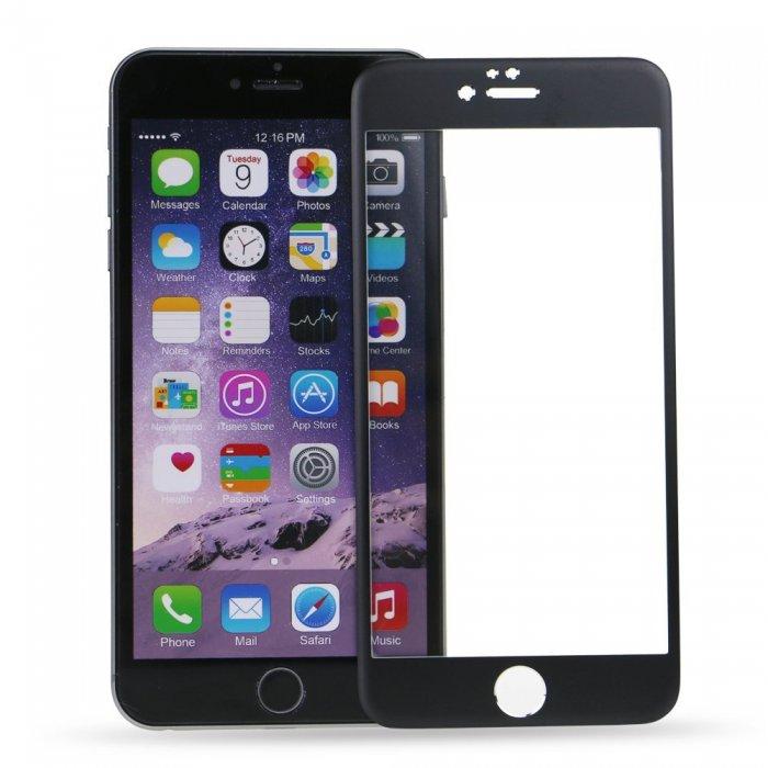 3D Tvrzené sklo Titanium pro iPhone 6s/6 - Černé