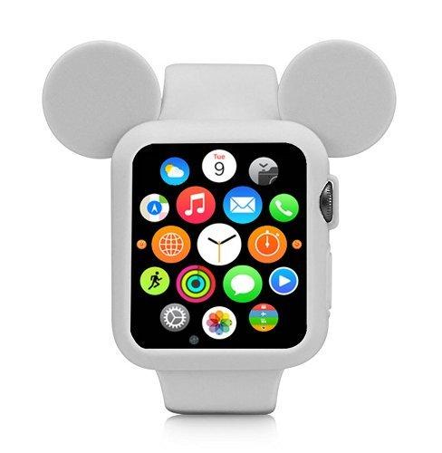 Obal Cartoon Mickey na Apple Watch 42mm Series 1, 2, 3 - Šedý
