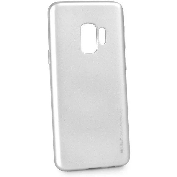 Silikonový kryt Goospery Mercury iJelly Metal na Galaxy S9 Plus - Stříbrný