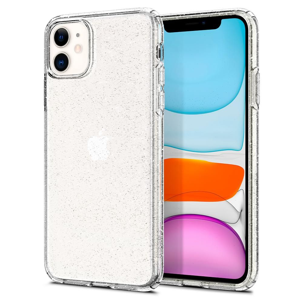 Pouzdro Spigen Liquid Crystal Glitter Apple iPhone 11 - Crystal Quartz