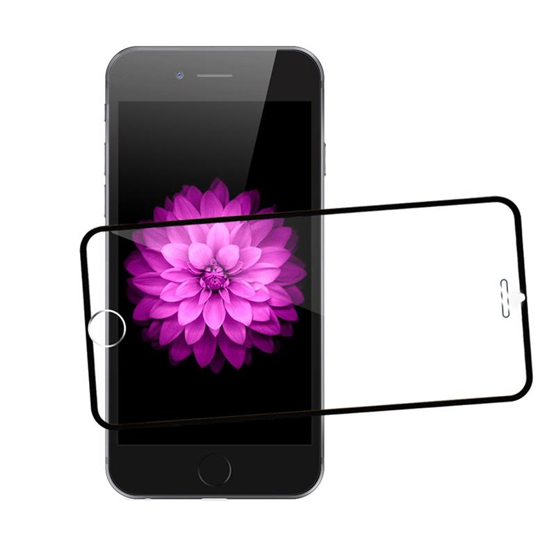 3D Tvrzené sklo Ring pro iPhone 6s/6 Plus černé