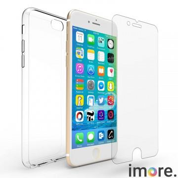 iMore SET: Čirý silikonový TPU obal + tvrzené sklo 9H na iPhone 6s Plus / 6 Plus