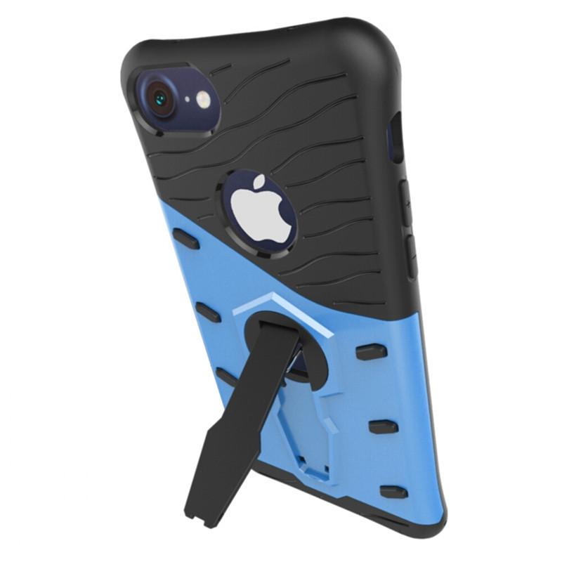 Velmi odolný kryt SNIPER se stojánkem pro Apple iPhone 7 - Modrý