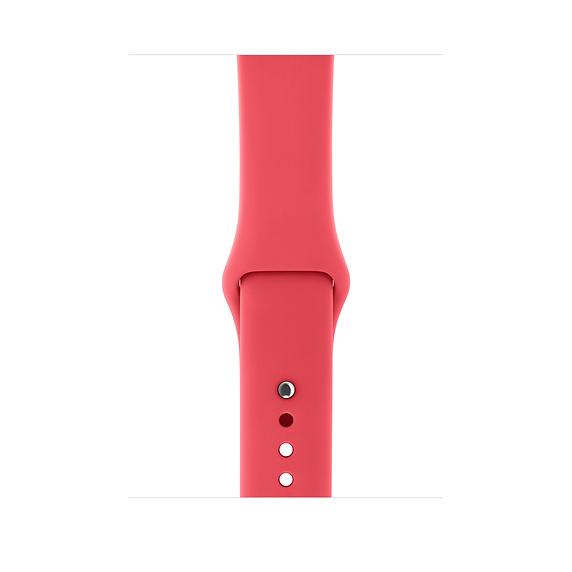 Řemínek SmoothBand pro Apple Watch Series 3/2/1 42mm - Malinově červený