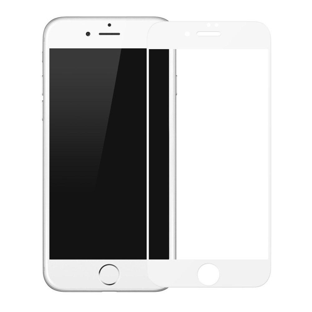 Tvrzené sklo FullCover na iPhone 7 Plus (bílé)